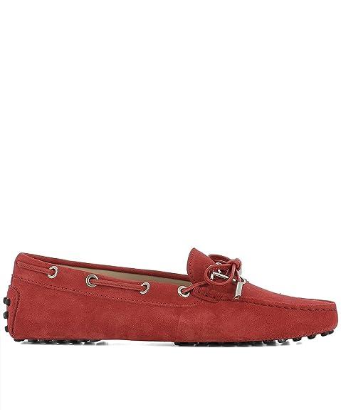 Tods - Mocasines para Mujer Rojo Rojo IT - Marke Größe, Color Rojo, Talla