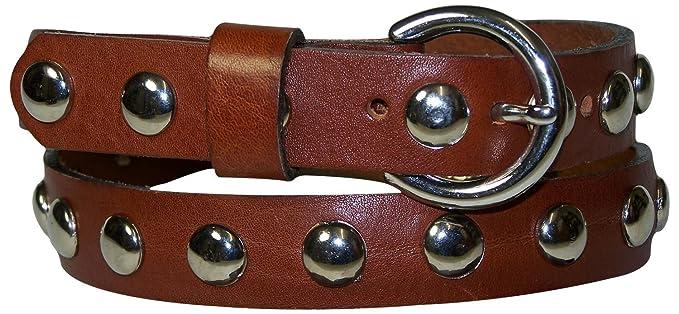 Fronhofer Ceinture pour femme ceinture en cuir véritable ceinture cloutée 2,5  cm boucle et c724e04d864