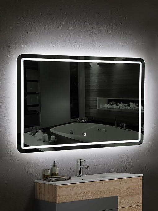 Specchio Bagno Led 100.Yellowshop Specchio Specchiera Cm L 100 X H 70 A Luce Led