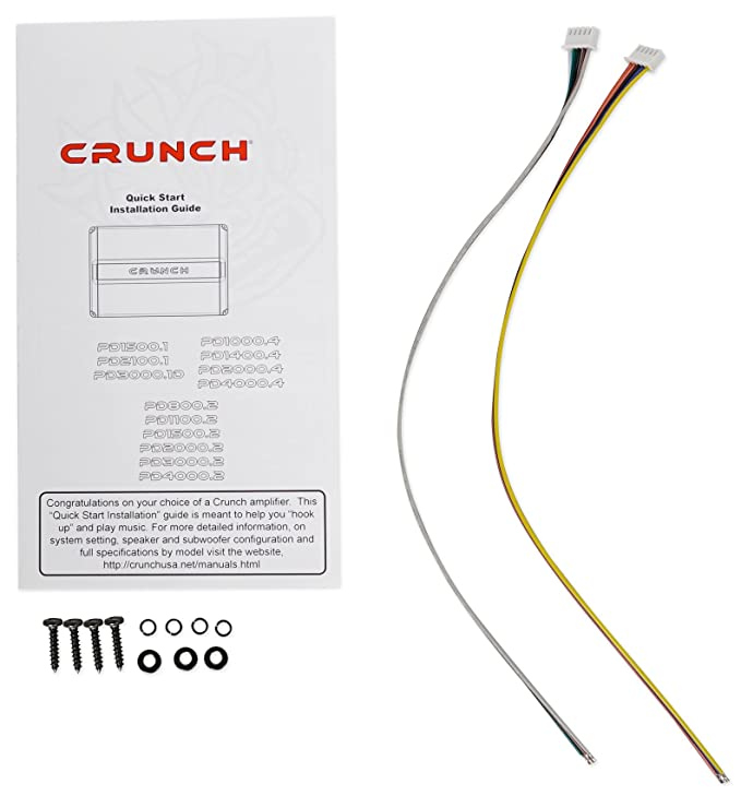 crunch pd1400 4 1400w 4 channel pro power car audio amplifier class ab amp kit  crunch sub amp wiring diagram #12
