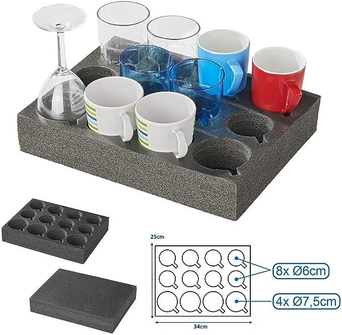 2 x Tassenhalter aus Schaum für Gläser//Tassen Camping Cup Holder