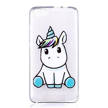 Funda Wiko Lenny 2 Silicona Transparente Ultrafina Unicornio ...