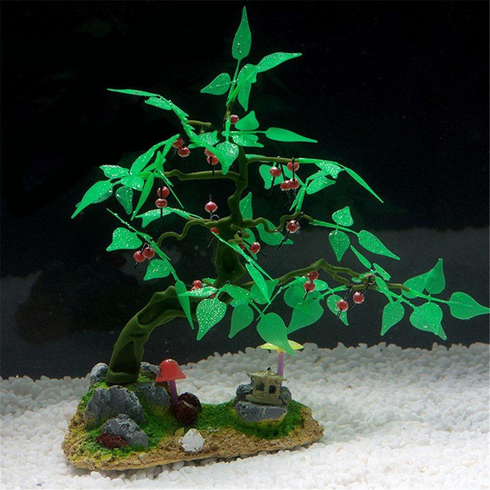 yunt frutas árbol decoración para acuario tanque de peces cartucho de resina de silicona: Amazon.es: Productos para mascotas