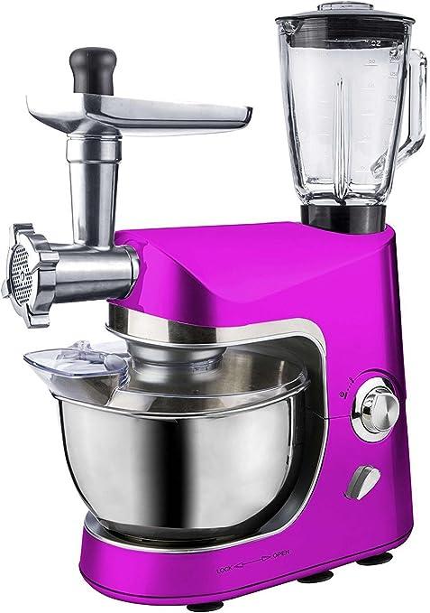 Alta calidad All-in-One Robot de cocina Rosa batidora picadora de carne eléctrica para amasar amasadora multifunción: Amazon.es: Hogar