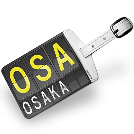 Amazon.com | Luggage Tag OSA Airport Code for Osaka - NEONBLOND | Luggage Tags