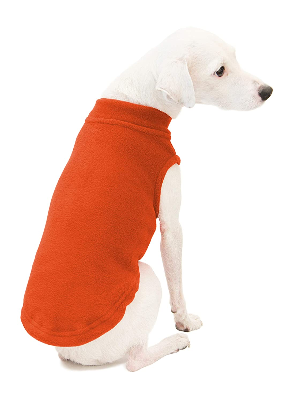 Pumpkin X-Large Pumpkin X-Large Gooby 72108-PMK-XL Stretch Fleece Dog Vest, Pumpkin, X-Large