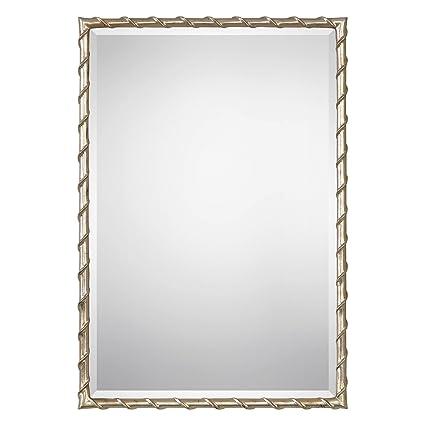 eb52a41bdc38 Amazon.com  Twisted Silver Gold Frame Wall Mirror