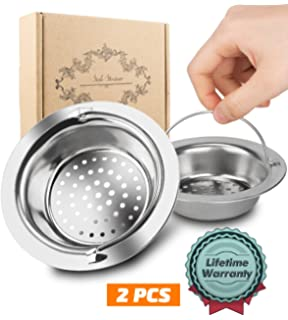 2pcs kitchen sink strainer magift stainless steel sink drain strainer with handle large wide - Kitchen Sink Drain