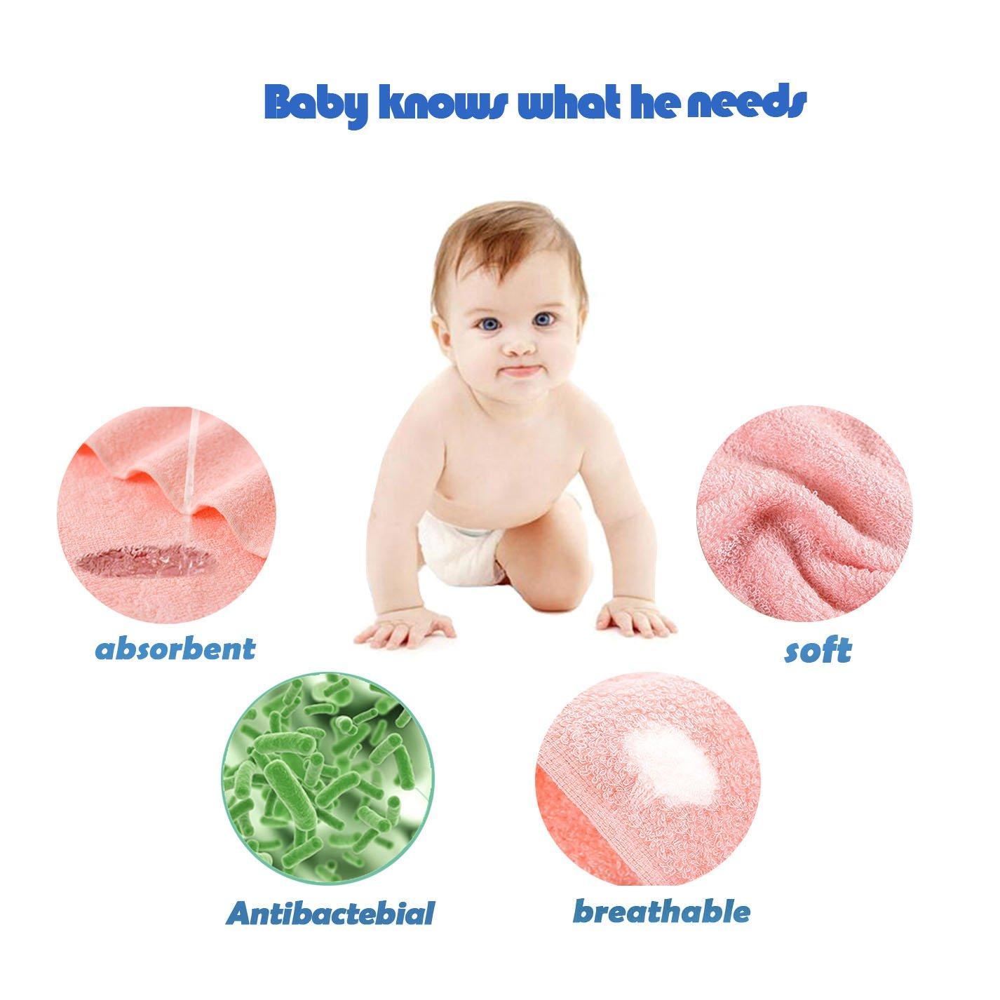 Toallas recién Nacidas bebé de bambú Naturales orgánicas faciales bebé 9 Pack: Amazon.es: Hogar