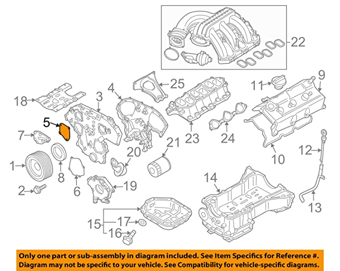 amazon com nissan 13570 za000, engine timing cover automotive 2005 Nissan Pathfinder AC Diagram