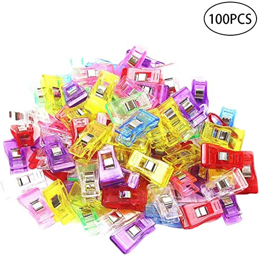 100Pcs Wonder Clips for Sewing Quilting Crafting Colorful Color W// Organizer