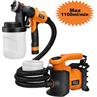 Tacklife HVLP 1100ml/min 800W Spray Gun with with 2 x 1200ml Replaceable & Detachable Containers