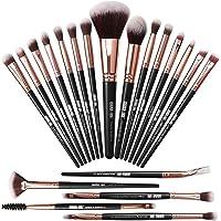 Makeupborstar 20 st makeupborstset professionella sminkborstar premium syntetisk foundation borste resor mjuk blandning…