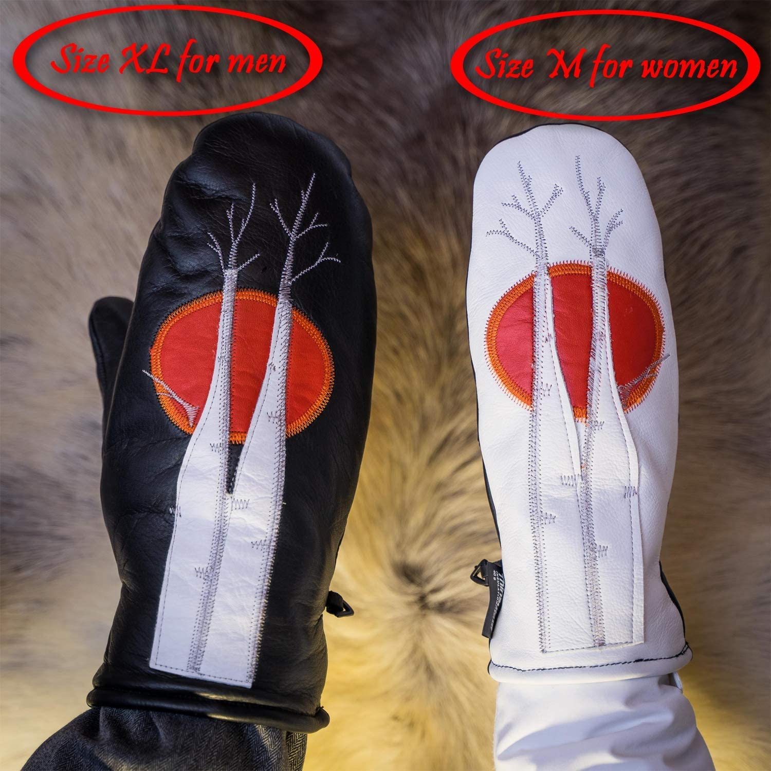 Best for Winters Leather Mittens Winter Mittens for Women And Men by Kaamos