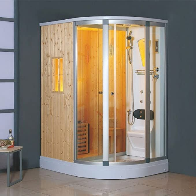 El Tasman: ducha en ángulo izquierdo-Balneario portátil para-Hammam-Sauna: Amazon.es: Hogar