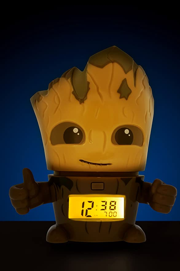 Amazon.com: Bulb Botz 2021340 Guardians of The Galaxy Vol. 2 Groot Alarm Clock: Bulb Botz: Home & Kitchen
