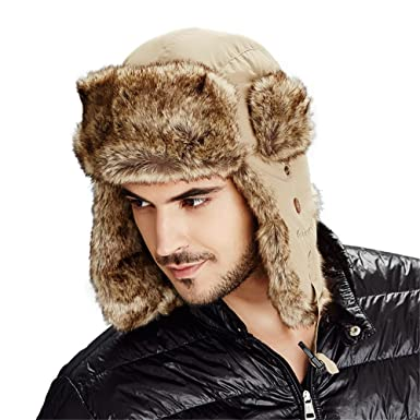 c908e67260c62 Kenmont Unisex Faux Fur Winter Russia Aviator Hat Trapper Earflap Bomber  Cap  Amazon.co.uk  Clothing