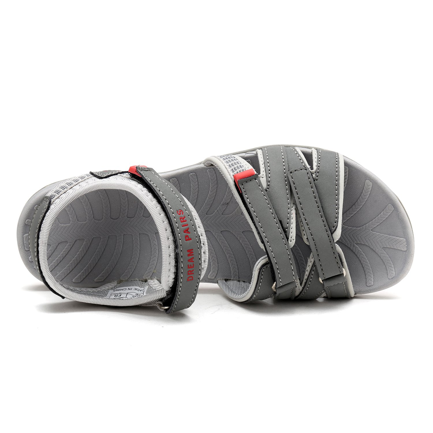 DREAM PAIRS Women's 160912-W Adventurous Summer Outdoor Sandals B07892T6S3 8 B(M) US|Grey/Lt.grey/Coral