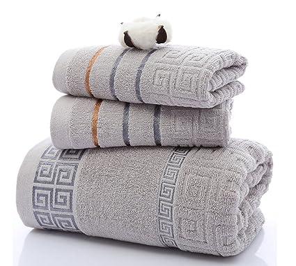 Asciugamani Per Il Bagno.Koobea 3 Pezzi Ata Qualita Cotone Asciugamani Bagno Tovagliolo Asciugamano Bagno Microfibra Palestra Panno Visor Set Regalo