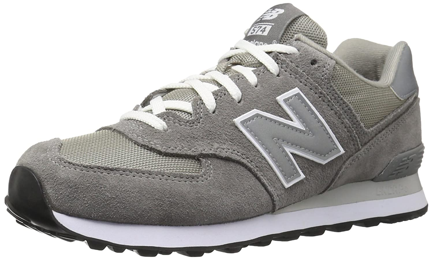 new balance medium moyen m574 black mens trainers