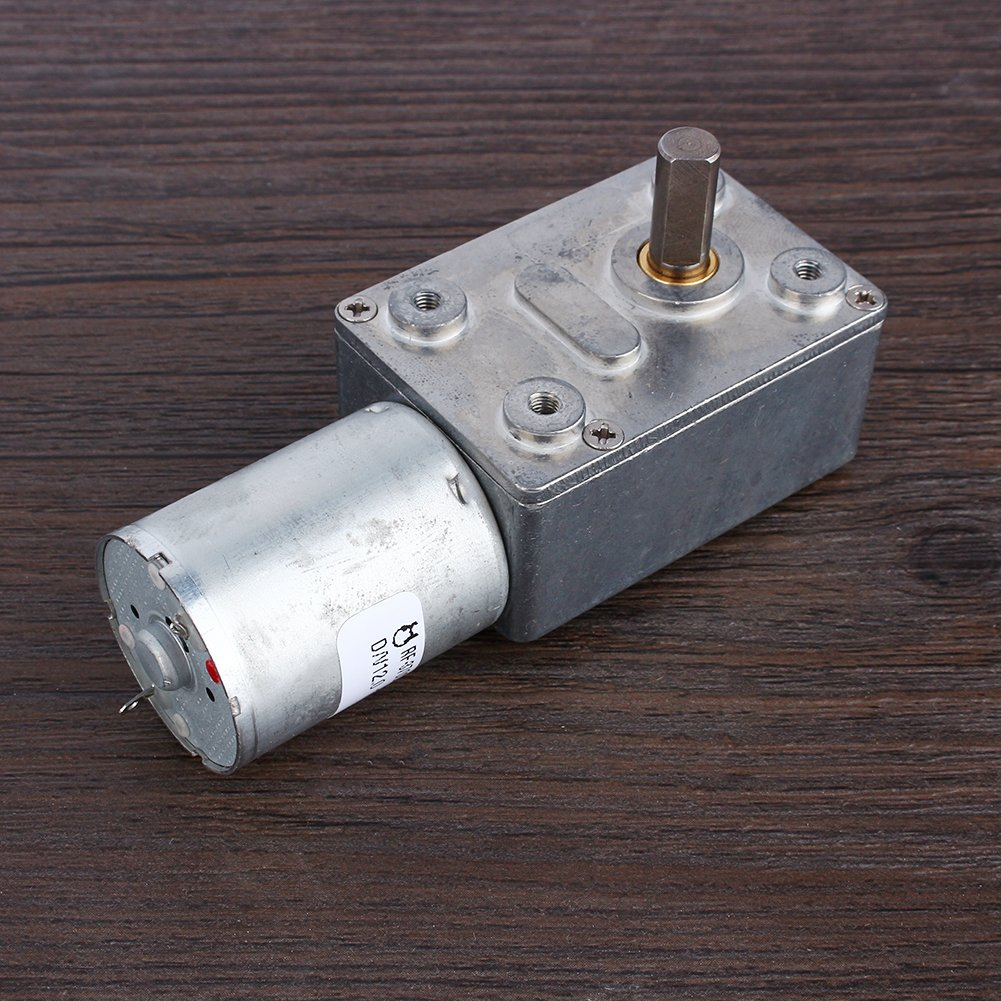 DC 12V Reversible High Torque Turbo Worm Gear Box Reduction Electric Motor(6RPM)