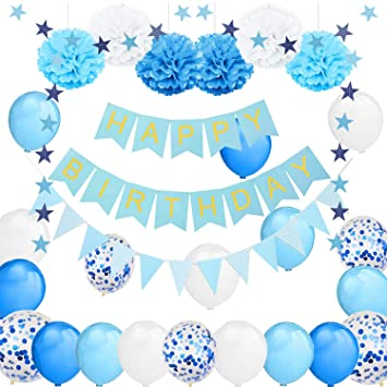 Lake Decoraciones de cumpleaños, Feliz cumpleaños Banner ...