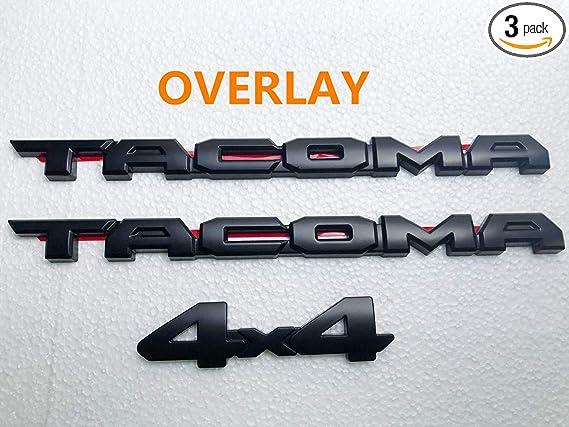 Auto safety for 2016-2020 TAC Blackout Emblem Overlay KIT PT948-35180-02 OEM