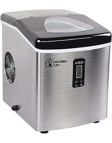 MODERN LIFE Máquina de hielo de acero inoxidable de 2 litros, 15 kg/24