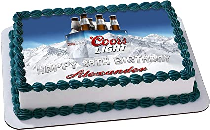 Excellent Amazon Com Coors Light Beer Edible Cake Image Topper Personalized Funny Birthday Cards Online Elaedamsfinfo