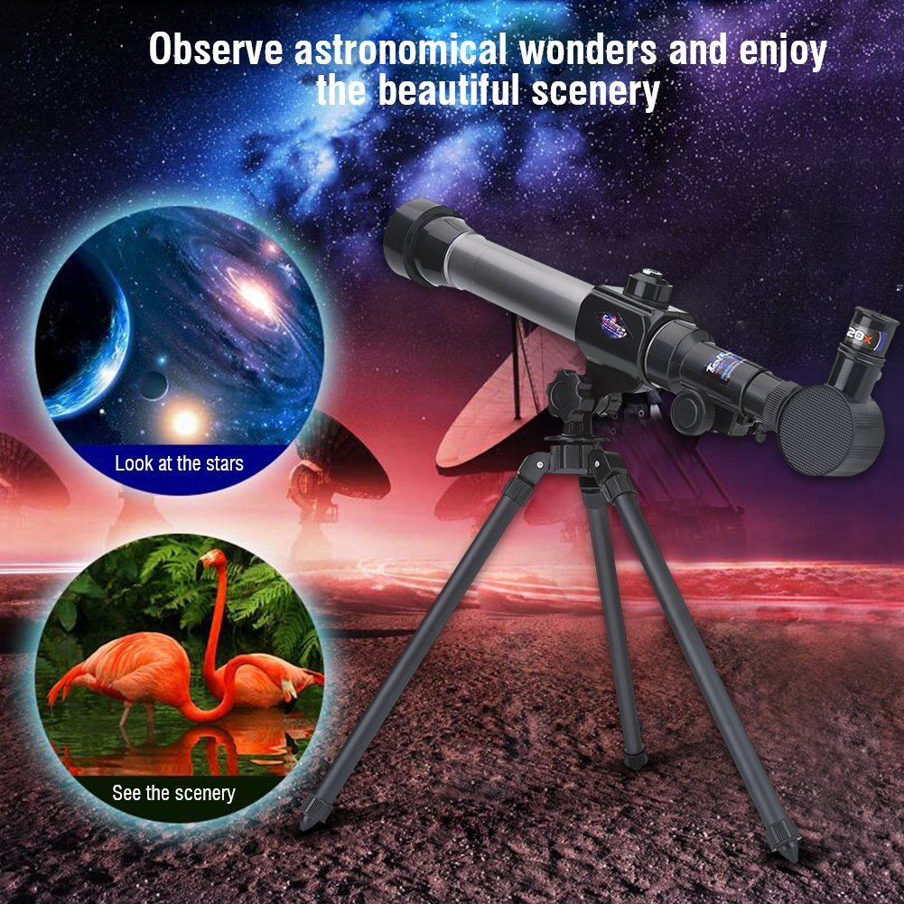 Amazon.com: TELESCOPE FOR KIDS - Easy to Use-Detachable-3 Magnification  Eyepieces-an Adjustable Tripod for Kids-Enjoy a Steady Observation of the  Moon and ...