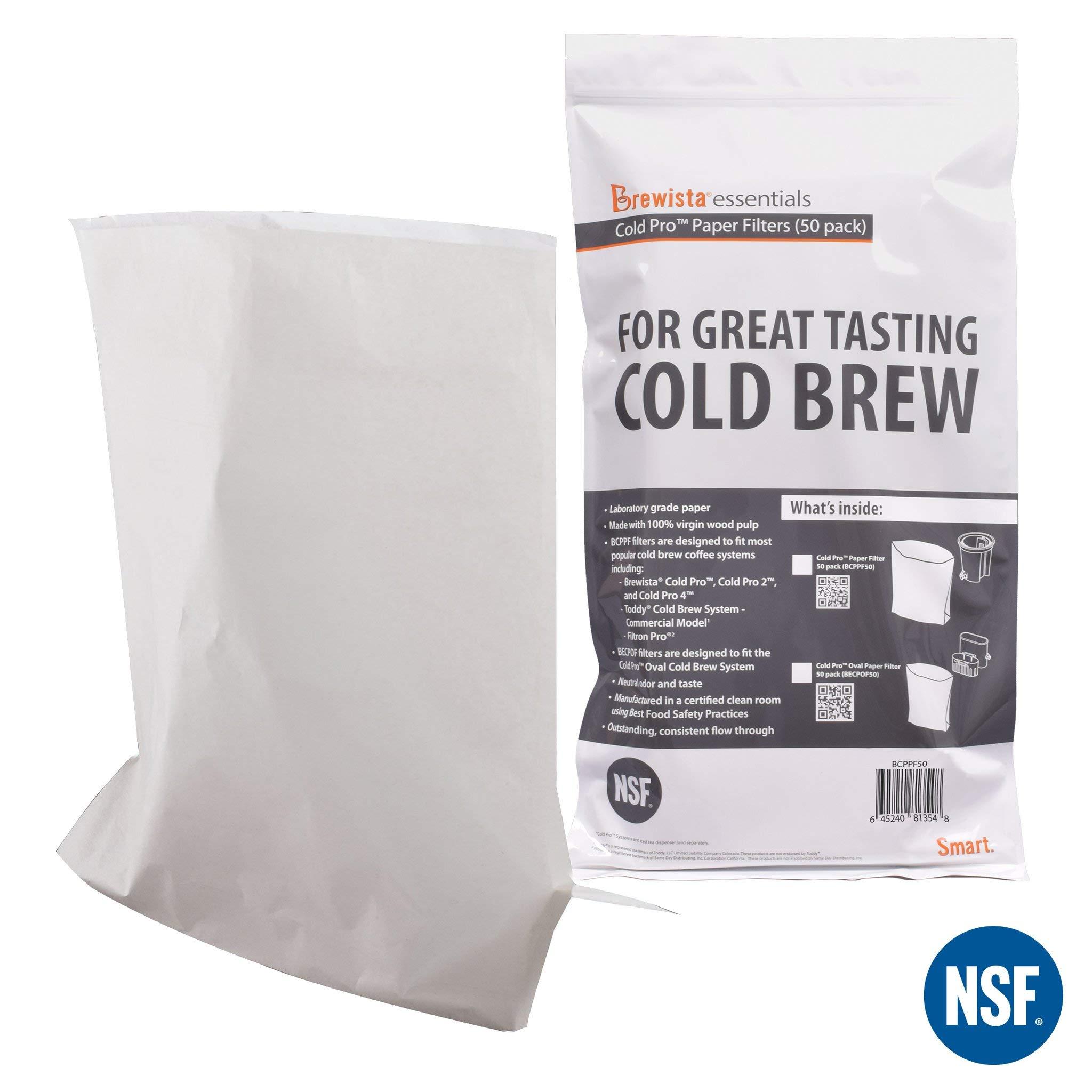 Brewista Cold Pro Original Paper Filter - 50 Pack (BCPPF50) by Brewista
