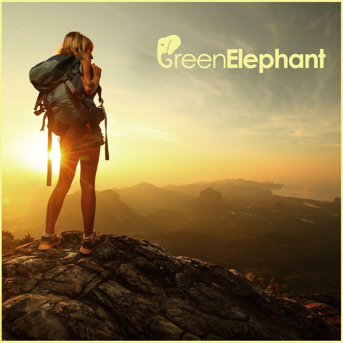 Mochila y Mucho M/ás Plegable Ideal para Adultos y Ni/ños Playa GREEN ELEPHANT Asiento de Inodoro Port/átil para Camping