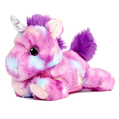 "Mulberry Drop Purple Unicorn Bright Fancies 7"" Stuffed Animal Plush: Toys & Games"