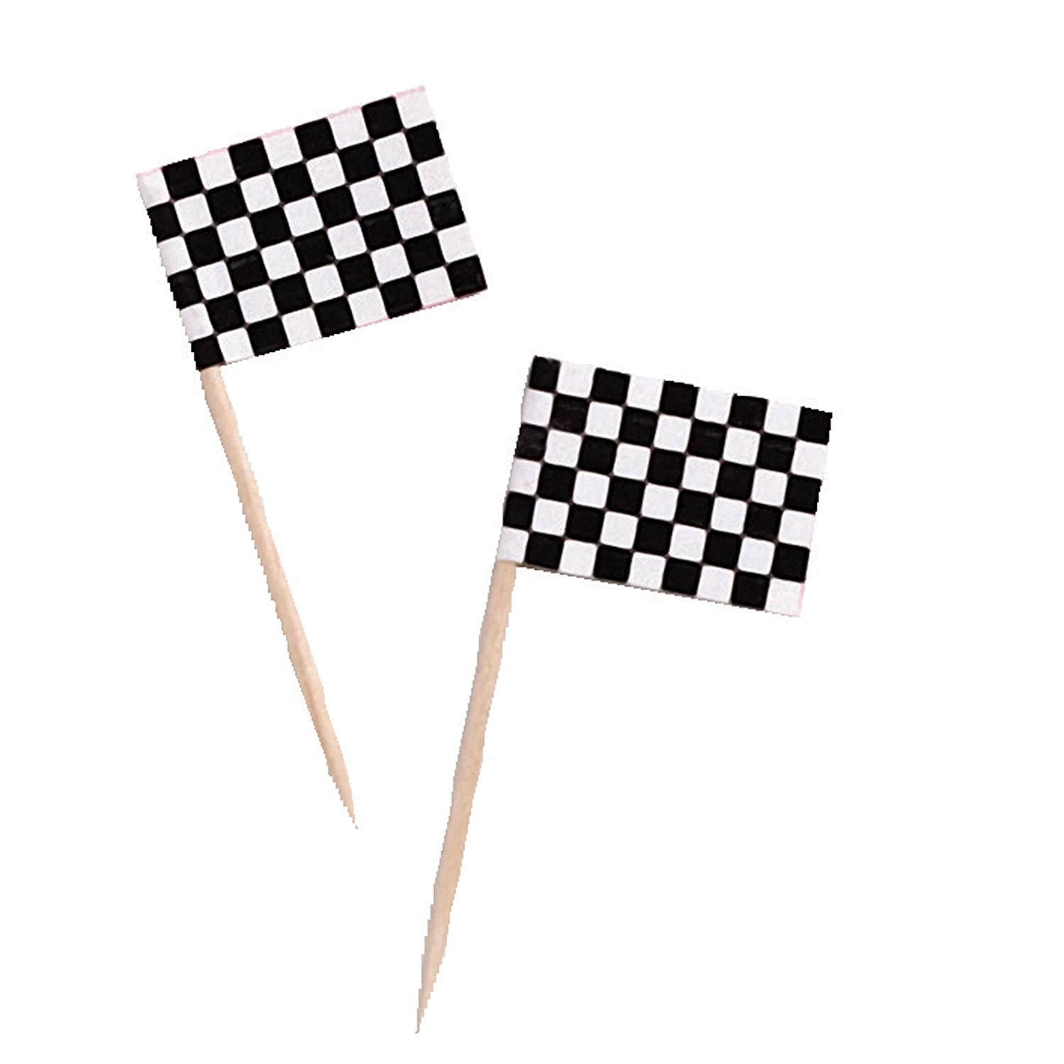 checkered flag toothpicks