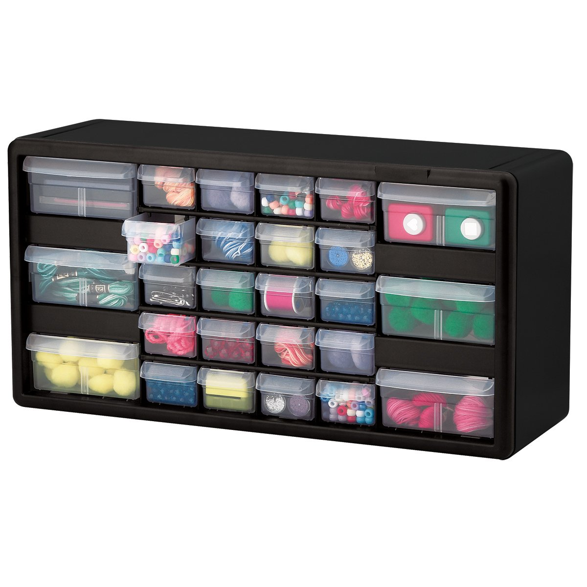 Craft storage drawers plastic - Amazon Com Akro Mils 10126 26 Drawer Plastic Parts Storage Hardware And Craft Cabinet 20 Inch By 10 1 4 Inch By 6 3 8 Inch Black Home Improvement
