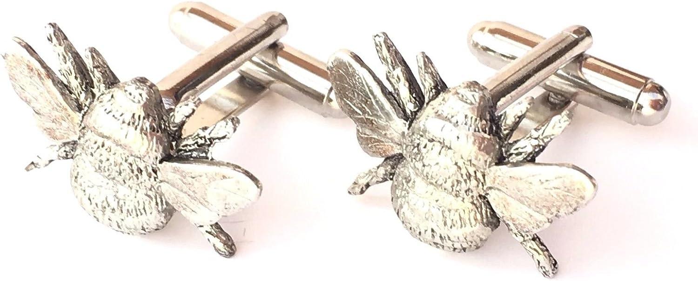 59/mm Button personalisierbar Bienen Bienenhaus Hand Made Manschettenkn/öpfe Zinn N266
