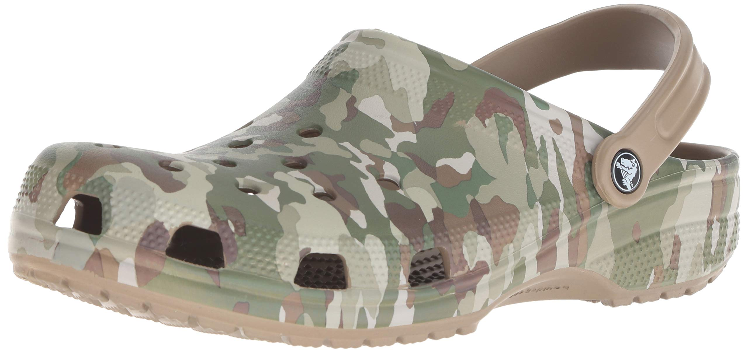 Crocs Classic Graphic Clog, dark camo green/khaki, 13 US Men/ 15 US Women