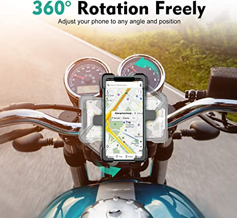 "Handlebar Bicycle Phone Holder Compatible with iPhone 11 Pro Max//X//XS Max//XR//8Plus//7 Cycling GPS Stainless Steel Phone Holder for Bike Bike Phone Mount TEUMI Detachable 360/° Rotation Motorcycle Phone Mount 4.5/""-7.2/"" Phone Samsung S20"