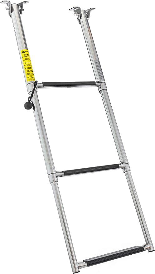 Garelick Eez In 19623 61 01 Over Platform Telescoping Drop Ladder 3 Step Sports Outdoors