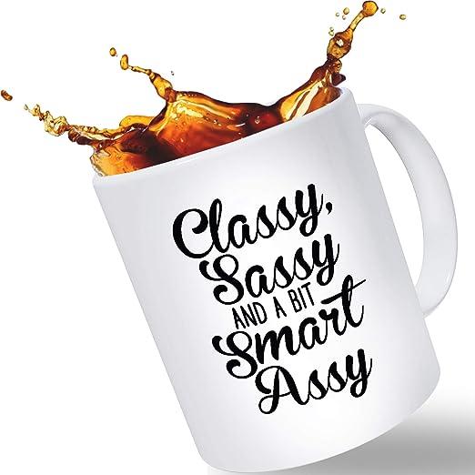 Amazon.com: Taza de café divertida para mujeres, elegante y ...