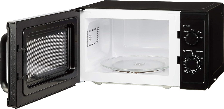 Cookology Microwave, 800W Freestanding, 20 Litre Capacity, 25cm Turntable (Black) Black