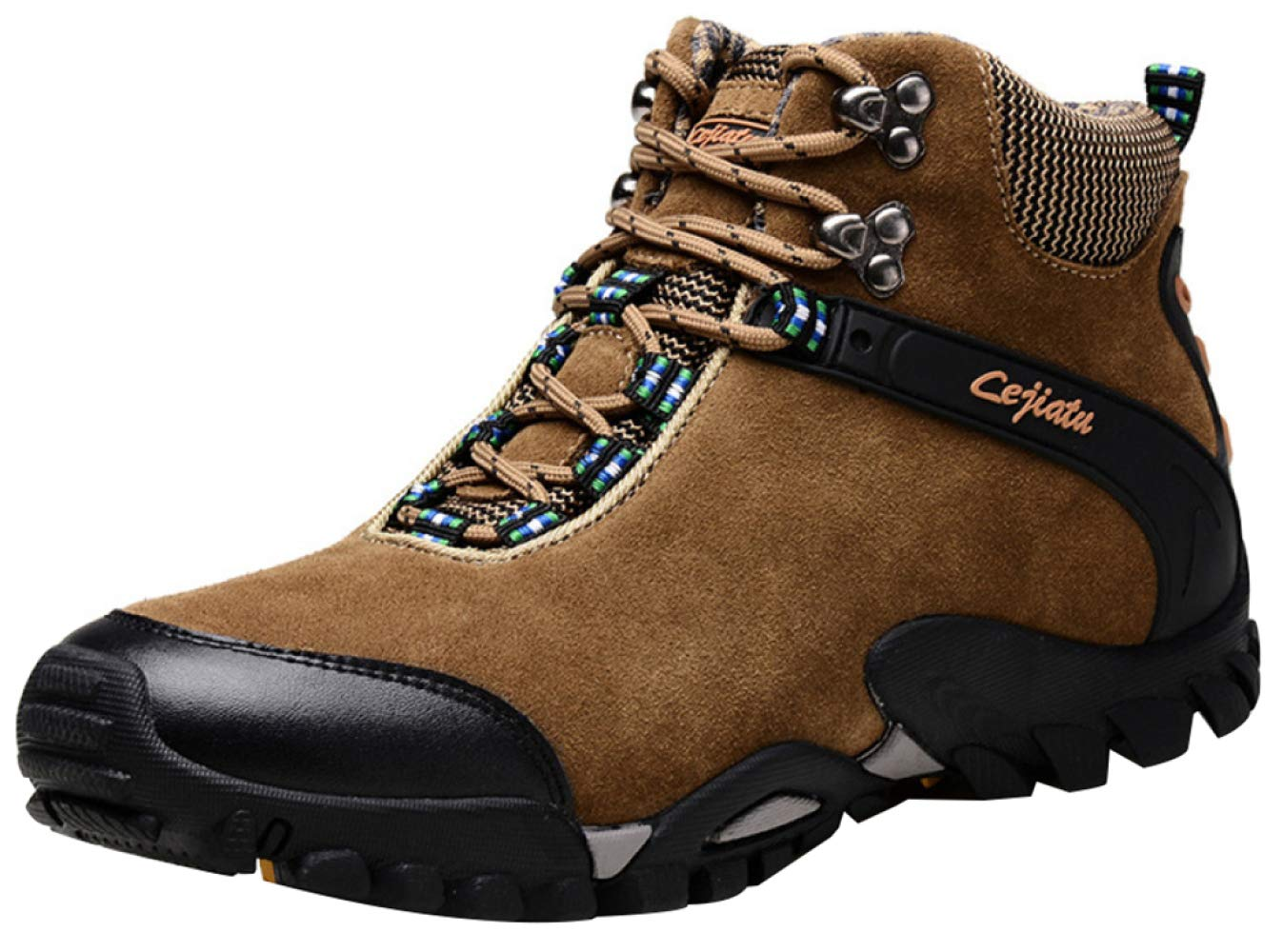 Khaki1 RSHENG shoes Boots For Men's Warm Lining Hiking Boots Outdoor Leisure Lightweight High-top Cotton shoes