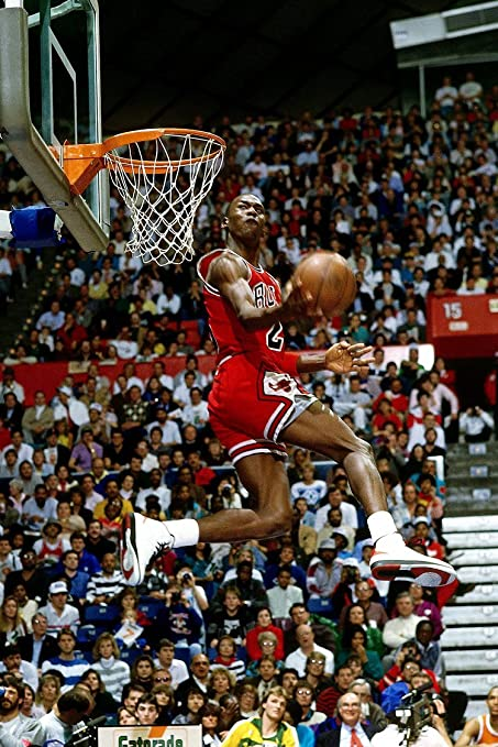 4a2a21b9b7032a Amazon.com  makeuseof Michael Jordan flying dunk Classic Poster Art Wall  Pictures for Living Room in Canvas fabric cloth Print  Posters   Prints