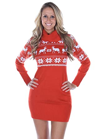 Fair Isle Christmas Sweater Dress - Extra Small at Amazon Women's ...
