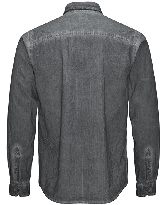 JACK & JONES Herren Freizeithemd jorCRUSHED Shirt Langarm Knitteroptik Slim  Fit: Amazon.de: Bekleidung
