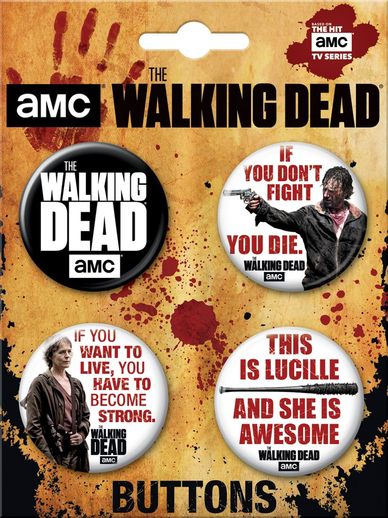 Ata-Boy The Walking Dead Assortment #2 Set of 4 3.2cm Collectible Buttons