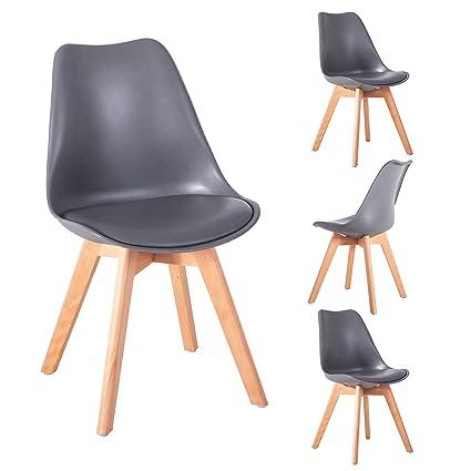 5bd9c5b994f36 Amazon.com: Zorlinex Mid Century Modern Style Dining Chair ...