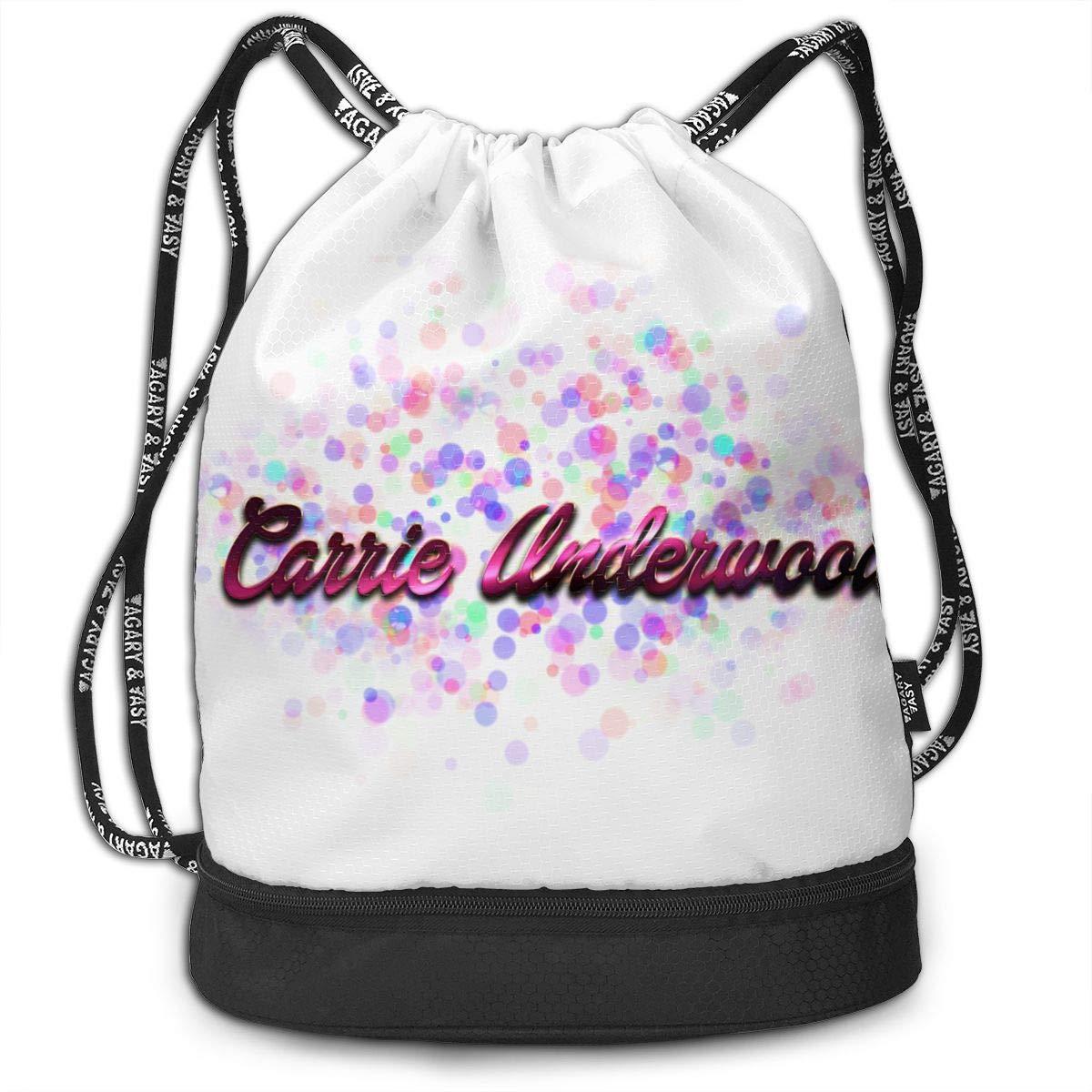 04f7413dc3c5 Amazon.com: Chenjunyi Carrie Underwood Drawstring Backpack Foldable ...