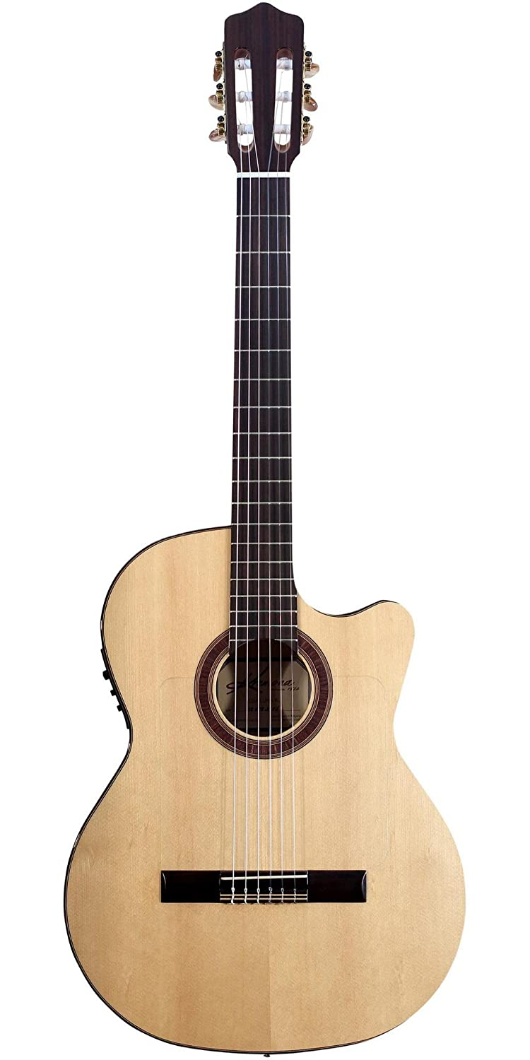 Kremona Left Handed Rosa Luna Flamenco Series Acoustic Electric Cutaway Classica Guitars & Basses