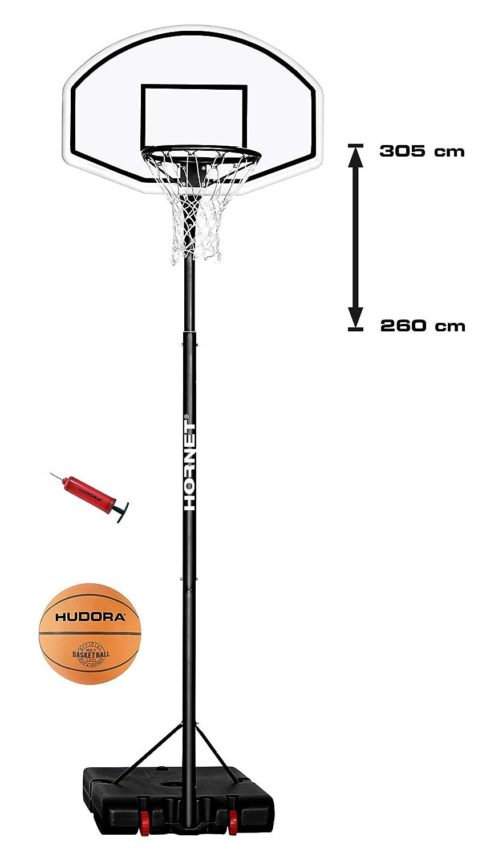 Hornet 305 - Canasta de Baloncesto para niños (305 cm, con balón ...